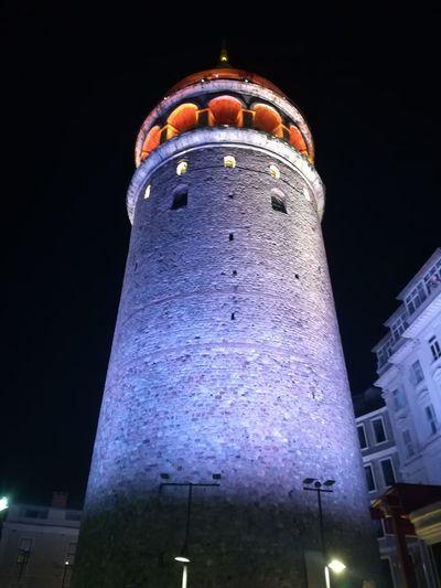 galata kulesi alt bakış Galata Turkey Istanbul Konstantinopolis Turkeyphotooftheday Konstantinapolis City Illuminated Dome Arts Culture And Entertainment Architecture Building Exterior Sky Built Structure