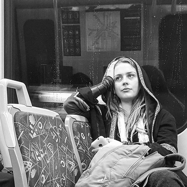 The rain tapped a rhythm against the glass... gentle and soft. Waiting. The phone rings and without looking... call declined. Waiting. The few things that she took with her... one small bag. Waiting. The train starts up... .... and she let's out a slow breath... I am not sure she knew she was holding. . Street transport candid series.... the story is completely fabricated, just based on the image I took. . Blackandwhite Blackandwhitephotography Blackandwhitelove Insta_bw Bnw_society Bnw Bnw_australia Bnw_captures Bnw_city The_lady_bnw MichaelsCamera TheCreatorClass Bnw_life Streetlife_mag Humansinmelbourne