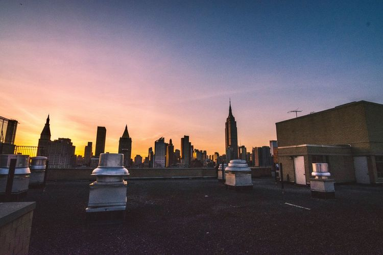 Summer Rooftop Mission in NYC NYC Rooftop New York City Sunset Moody