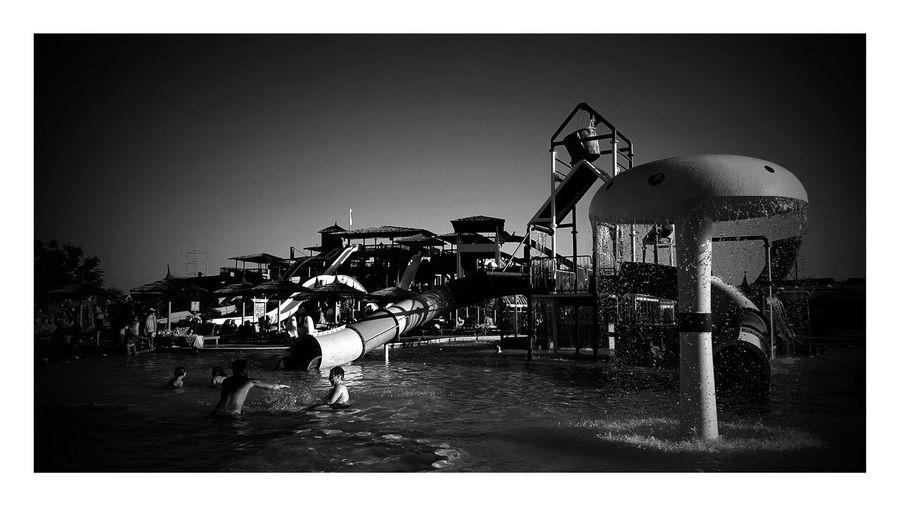Blackandwhite Photography Black And White Black & White Blackandwhite Schwarz & Weiß Enjoying Life Relaxing Schwarzweiß Schwarzweißfotografie Red Sea Hurghada Ägypten  Ägypten Red Sea Egypt Schwimmbad Pool Waterslide Waterslides Wasser Wasserrutsche