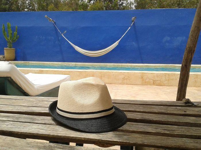 Hat Blue wall Net Summer Marrocos Morocco Blues