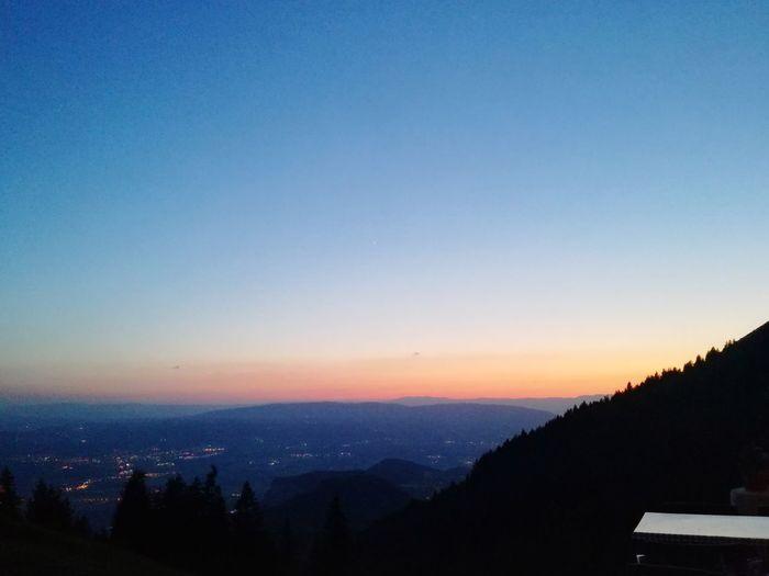 Solitude Tree Mountain Sunset Forest Winter Blue Silhouette Sky Landscape Mountain Range