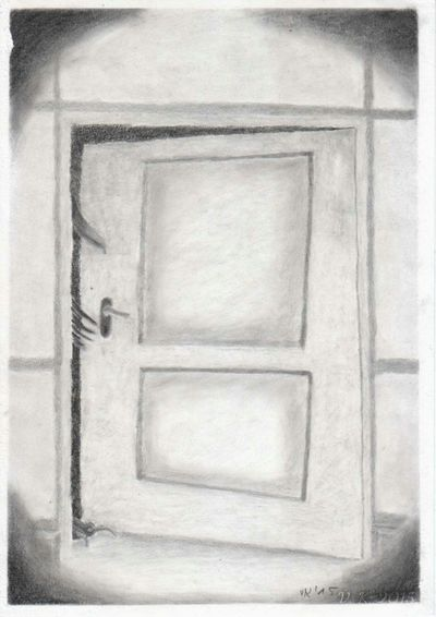 House at the end of the road - my newest drawing. I drew this with Derwent Charcial and Oilbased Charcoal leads from Kooh - I - Nor Charcoal Drawing Showing Why I Could Be An Open Editor Now Online ArtWork Surrealism Artistic Photo My Surreal Art Surreal Traditional Art My Surreal Art
