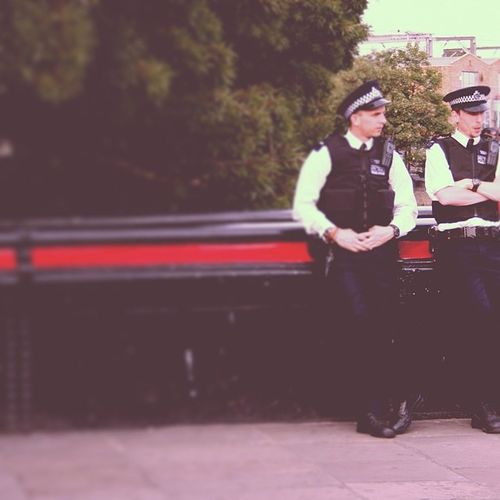 Camdenriver Policemen Letthefedswatch Camdentown bridge market
