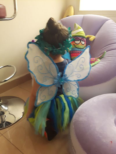 Butterfly Kenzy💘 Multi Colored One Person Indoors  Clothing Representation Art And Craft Creativity