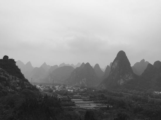 Just like Chinese Painting Mountain Mountain Range Nature Sky Architecture Beauty In Nature No People Outdoors Day