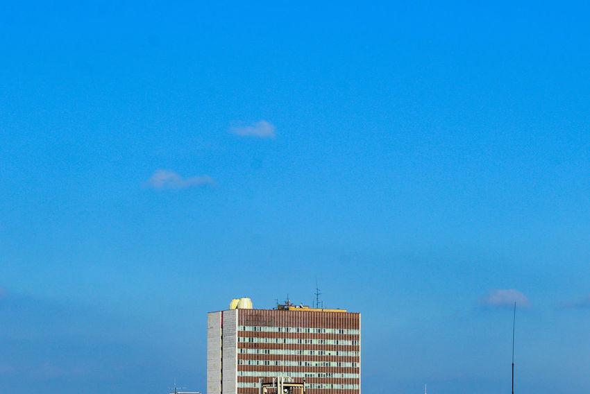 Architectural Feature Architecture Blue Building Building Exterior Buildings & Sky Built Structure City Cityexplorer Clear Sky Minimal Architecture Minimalism Minimalist Minimalist Photography  Minimalobsession No People Outdoors Simplicity Sky Urban Urban Photography Urban Skyline