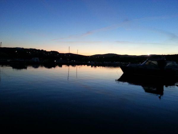 Sardegnacharter Portopozzo Sardegna Sintonia Water Reflection Sky Tranquility Nautical Vessel Lake Scenics - Nature Sunset Nature Beauty In Nature Waterfront