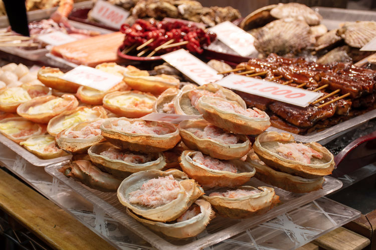 High angle view of food for sale at store