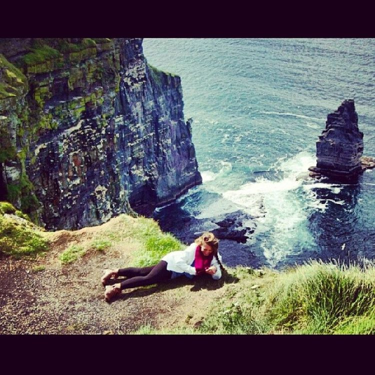 That one time I hung over the edge of the Cliffs of Moher to pick a flower...Happy Earth Day!!! ? ✌ ? ? Noregrets Livealittle Happyearthday Beautifulworld cliffsofmoher surrreal takemebacktoirishland