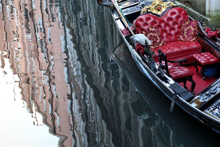 High angle view of gondola