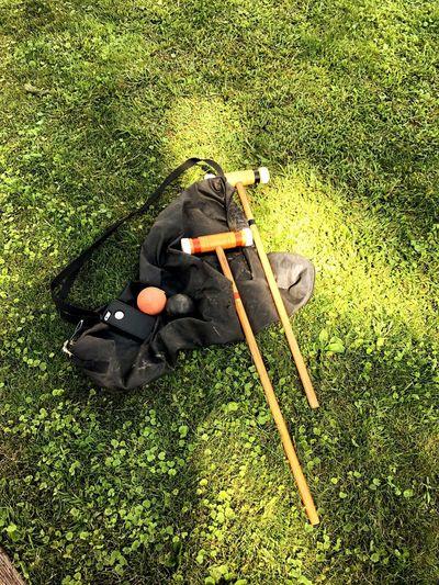 Grass High Angle View Croquet