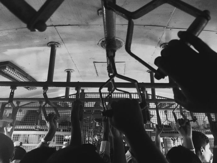 A Sea of Hands (BnW) EyEmNewHere Blackandwhite Black And White Speaker Grill Tubelight Traveling Travelling Train Interior Train Ride Trains Crowded Train Handles Handle Commuting Hands Hanging Hanging On India Chennaiphotography Chennai Diaries Chennai Rush Hour Office Rush People Commute Commuters Local Train Human Hand Crowd Close-up