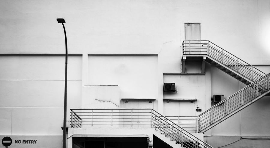 Staircase Steps And Staircases Steps Railing Architecture Built Structure Fireexit Fireescape Blackandwhite
