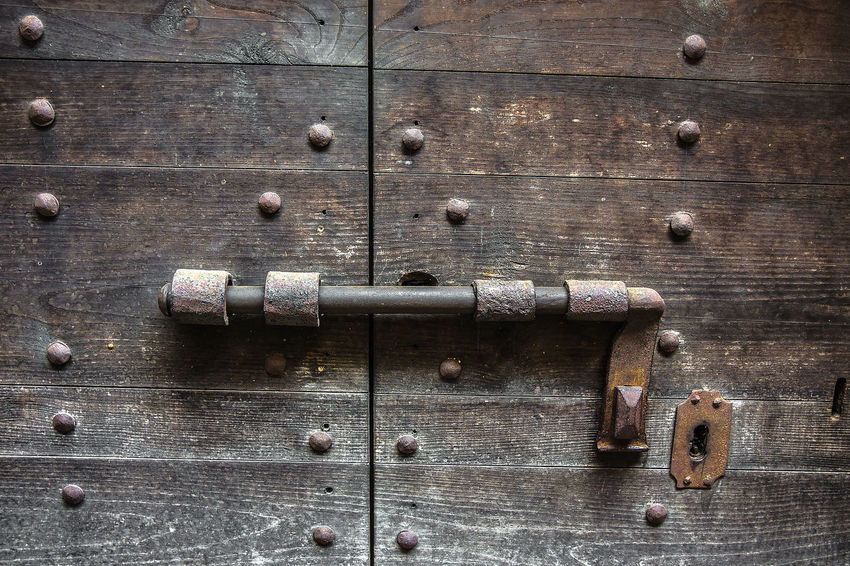 Ricetto di Candelo, Italy Ancient Architecture Close Up Close-up Colours Door Gate Historical Lock Medieval Padlock Village Wood Wood - Material