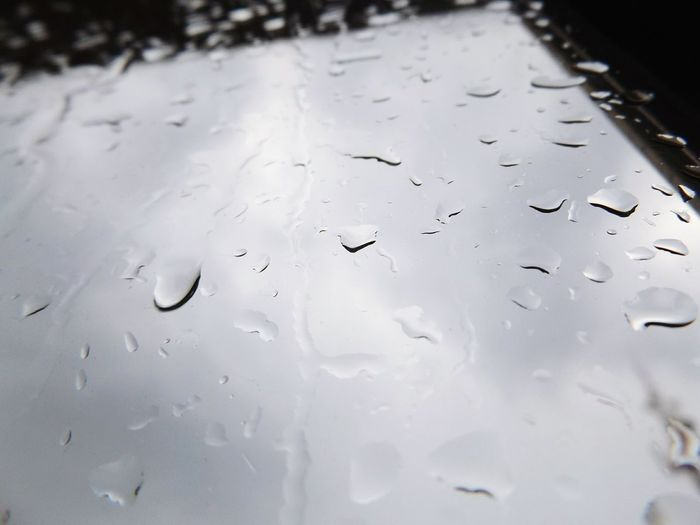 Close-up of water drops on water