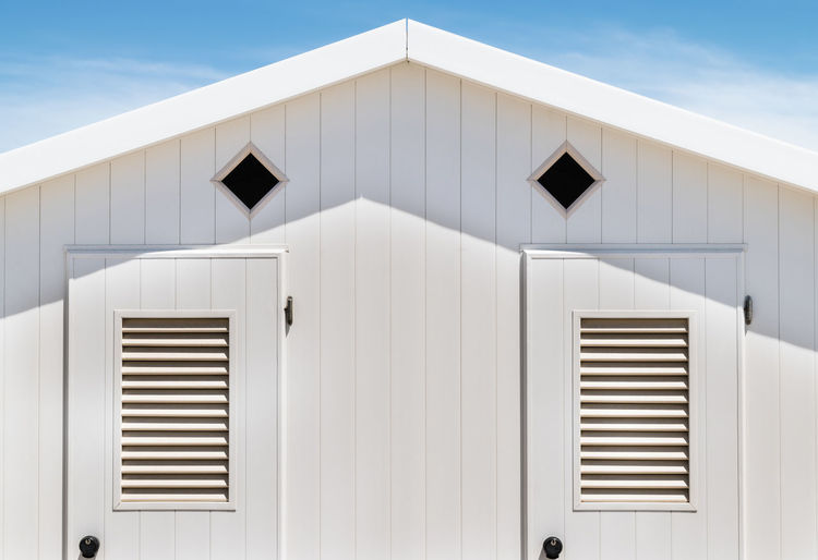 Air Duct Architecture Building Building Exterior Built Structure Close-up Day Focus On Foreground House Modern Nature No People Outdoors Pattern Sky Sunlight Sunny Wall - Building Feature White Color Window