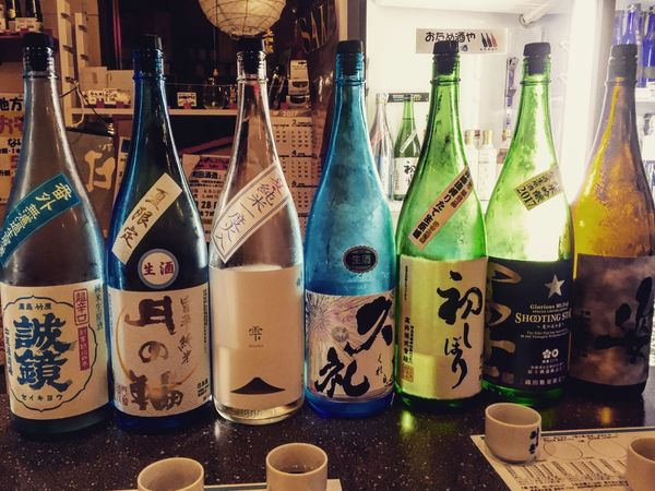 Bottle Alcohol Drink Indoors  No People Variation Japan Tokyo,Japan Japanese Style Photography Tokyo Nihonshu Japanese Culture Sake Japanese Sake Liquor Store Shop Store Bottles Collection Event