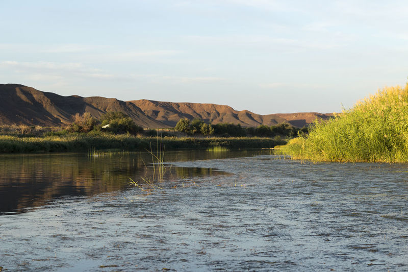Orange River - Namibia Beauty In Nature Day Idyllic Lake Landscape Mountain Namibia Nature Nature Reserve No People Orange River Outdoors Scenics Sky South Africa Tranquil Scene Tranquility Travel Destinations Water Wilderness