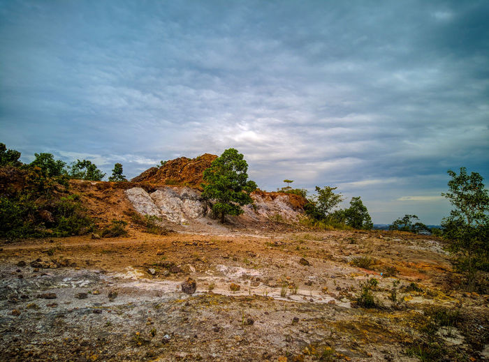 Hill View Sky Cloud - Sky Nature Rock Tranquility Tranquil Scene Beauty In Nature No People Environment Land Rock - Object Solid Plant Day Landscape Scenics - Nature Non-urban Scene Tree Outdoors Rock Formation Climate Arid Climate EyeEm Best Shots EyeEmNewHere EyeEm Nature Lover