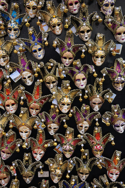 Colorful Gift Gifts Italy Large Group Of Objects Magnet Object Magnet Souvenir Masks Multi Colored Order Repetition Souvenir Souvenirs Tourism Variation Venice Venice Masks