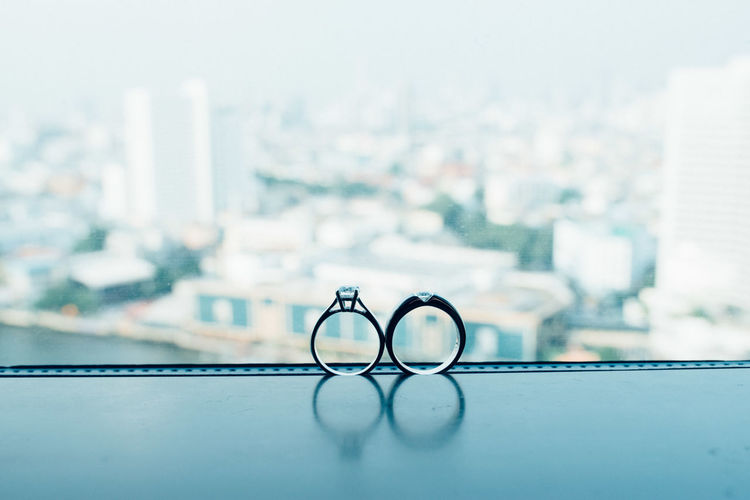 Circle City Cityscape Close-up Focus On Foreground Glasses No People Ring Rings Vision Wedding Wedding Day Wedding Photography Weddings Around The World