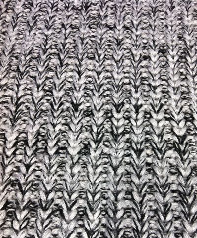Wool knit Texture Pattern Cable Marl Jumper Sweater Knitted  Black And White Fabric Background