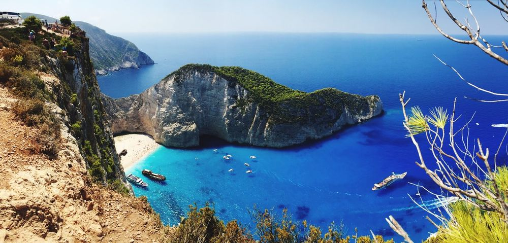 Water Beauty In Nature Shipwreck Shipwreck Bay Shipwreck, Zakynthos Nature Photography Scenics Nature Sea Tranquility Tranquil Scene Rock - Object Idyllic Day High Angle View Blue Outdoors No People Physical Geography Sky Horizon Over Water Beach Landscape Mountain