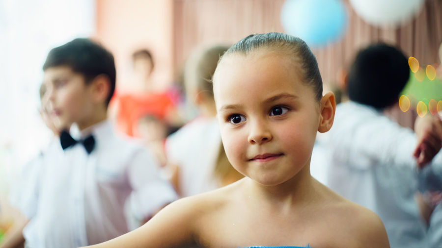 Child Indoors  Childhood Portrait Girls People Children Only Healthy Lifestyle Elementary Age Lifestyles Classroom Group Of People Day Smiling Human Body Part Friendship Close-up