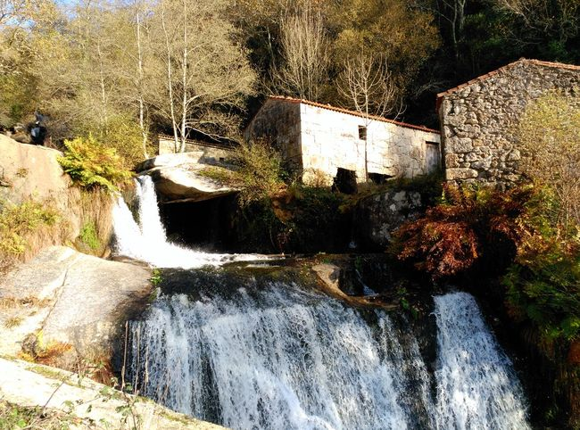 Cascada do río Barosa Waterfall Watermill River Stones Tranquillity Beauty In Nature No People My Year My View