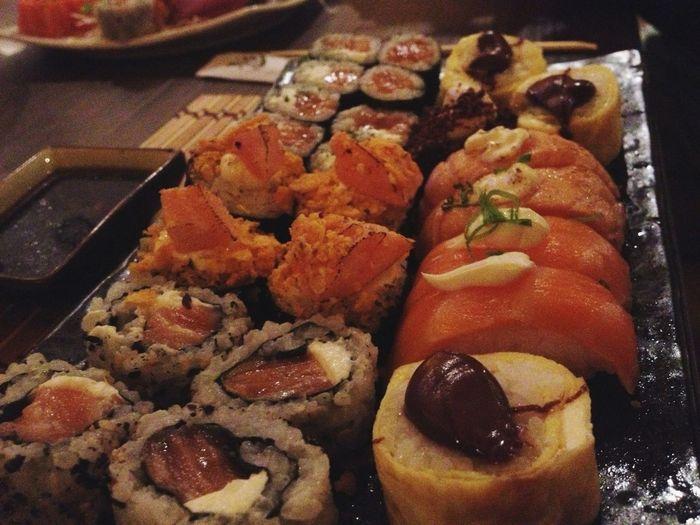sushi maravilhoso na melhor cia