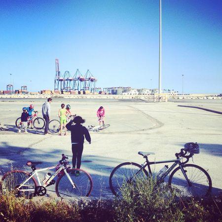 Hobbies of people Hobbies Cycling Sport Bike Bysicle Streetphotography Kids Children Childhood Ride Sea Malaga SPAIN