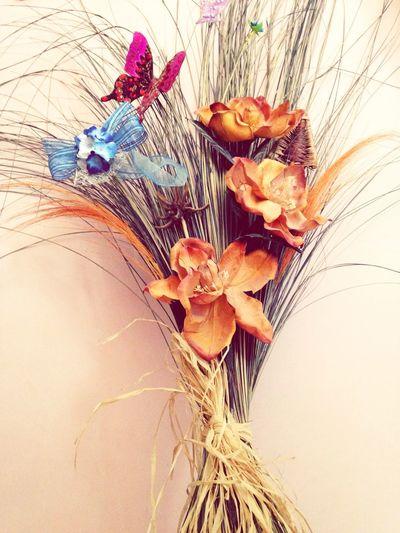 Flowers Bouquet Of Flowers Blue Orange Color