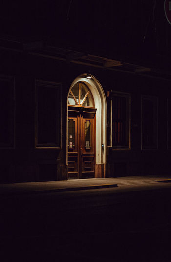 Camera - Canon 550D -Lens - 50 mm f/1.8 Blog : https://www.instagram.com/david_sarkisov_photography/ Architecture Built Structure Indoors  Night Building Door No People Entrance Absence Arch Window Illuminated Empty Dark House Closed Religion Copy Space Ceiling Stage Luxury Streetwise Photography