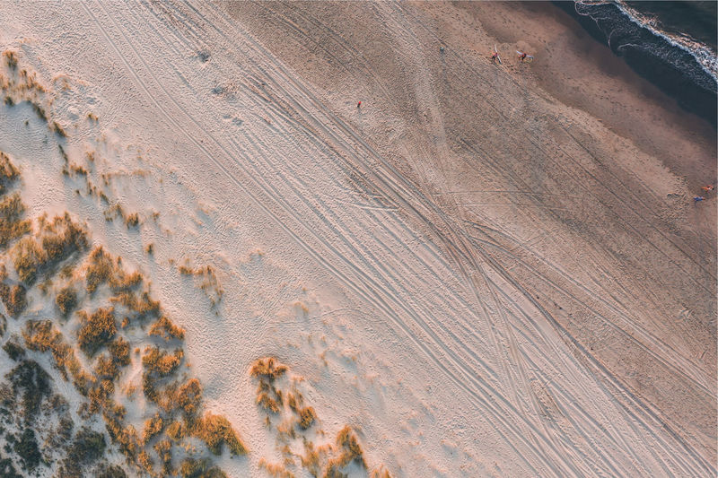 High angle view of a desert