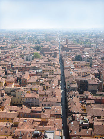 View from the Asinelli Tower across Bologna, Italy Architecture Asinelli Bologna Building Exterior Built Structure City Cityscape Day High Angle View Italia Italy No People Outdoors Sky Travel Destinations