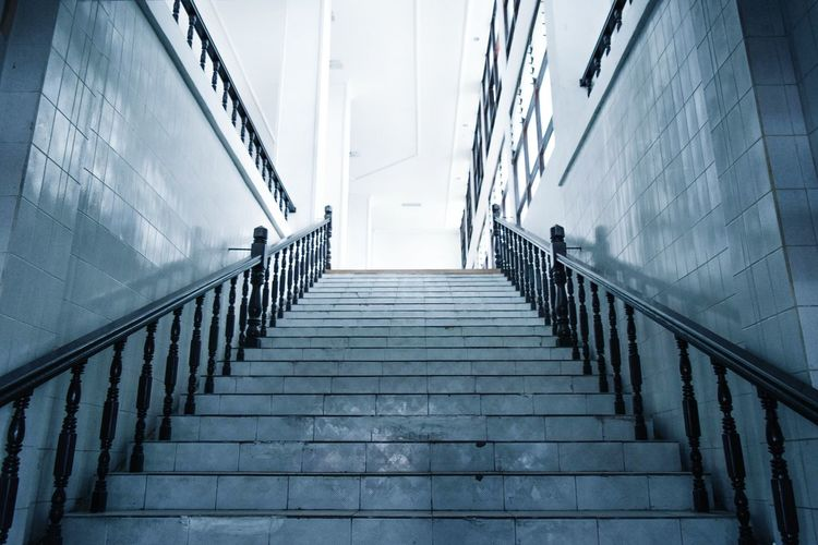 Low Angle View Of Empty Steps