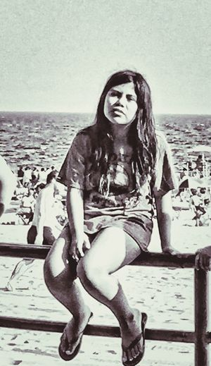 Young Girl Girl Sitting Girl At Beach Girl Alonr