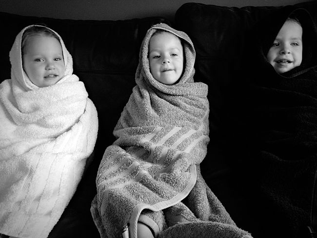 Snug as bugs in rugs! Triplets Snuggles