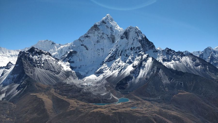 The mountain ama dablam, nepal. october 2019