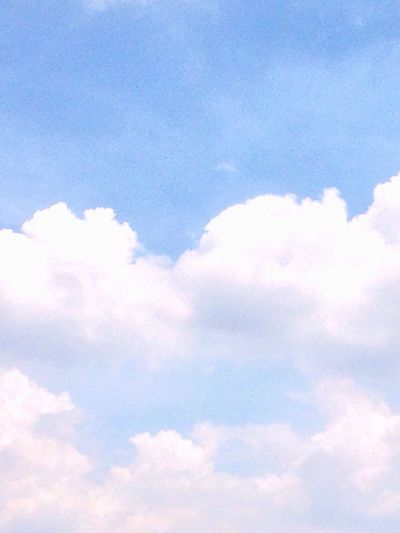 Cloud - Sky Sky Fluffy Cloudscape Nature Heaven Sky Only Backgrounds Beauty In Nature Tranquility Blue Softness Low Angle View Day Outdoors Scenics Multi Colored No People First Eyeem Photo
