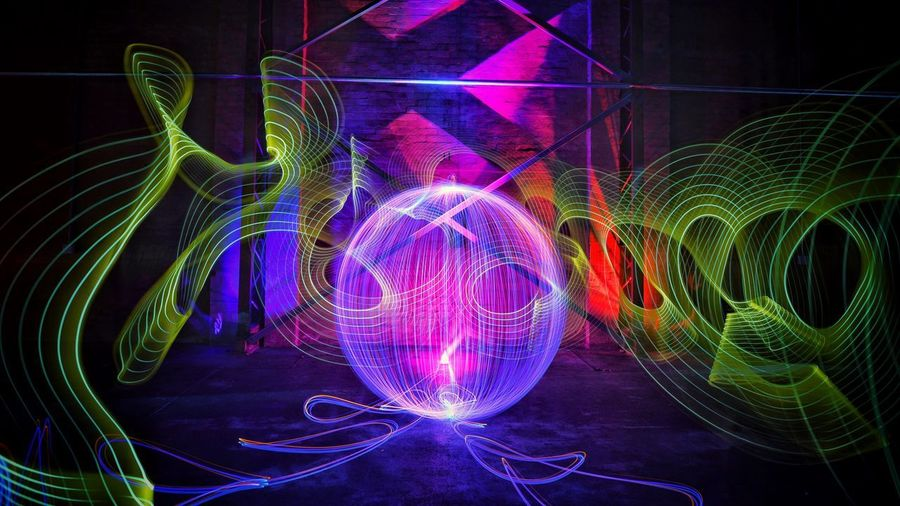 What an incredible place to play with the BOLT . I miss my LightPainting Brothers already... Light Trail Light Painting Long Exposure Illuminated Multi Colored Night Motion Abstract Indoors  Architecture Neon No People Wire Wool