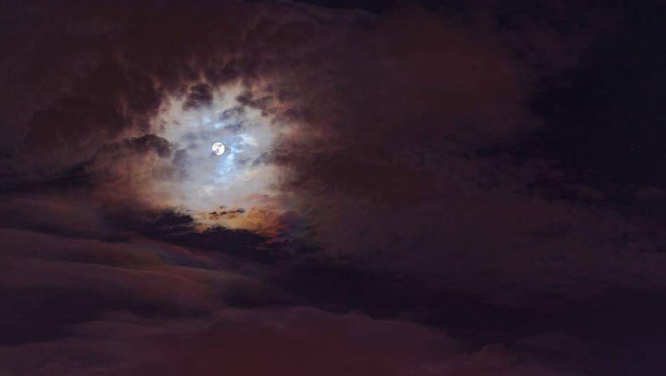 彩雲追月 Cloud - Sky Sky Atmospheric Mood Night Scenics Low Angle View Nature Beauty In Nature Sky Only No People Silhouette Outdoors Tranquility Moon Astronomy