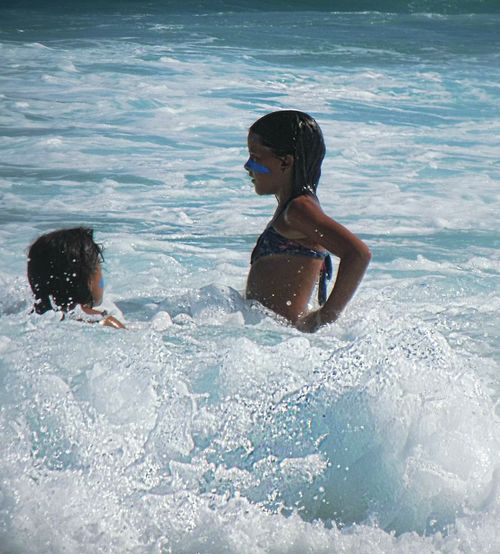 Child Swimming Lifestyles Children Only Playing Water Beach Sea Wave Sport Vacations Outdoors Nature Water Slide Uniqueness Enjoyment Rio De Janeiro Summer Relaxation Lifestyle Adventure Wave Motion Freedom Vitality