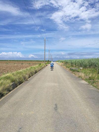 Haterumajima Rural Scene Full Length Road Sky Grass Cloud - Sky Landscape