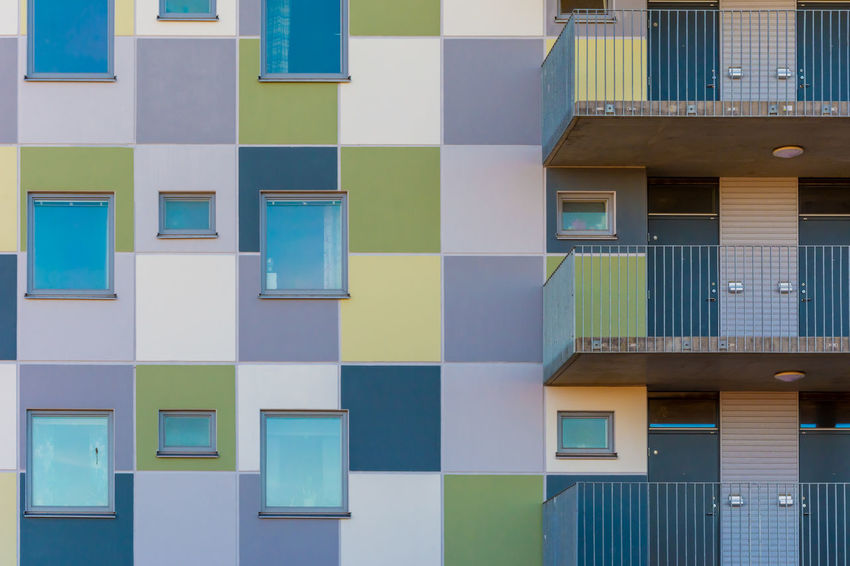ARCHITECT Colored Exterior Futuristic Living Modern Residential  Accommodation Affordable Apartment Architectural Balcony City Residential Colorful Contemporary District Estate Europe Facades Housing Living Area Real Estate Residential Area Residential Building Urban