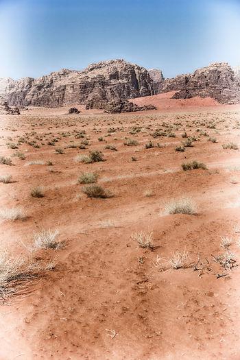 Scenic view of desert landscape against sky