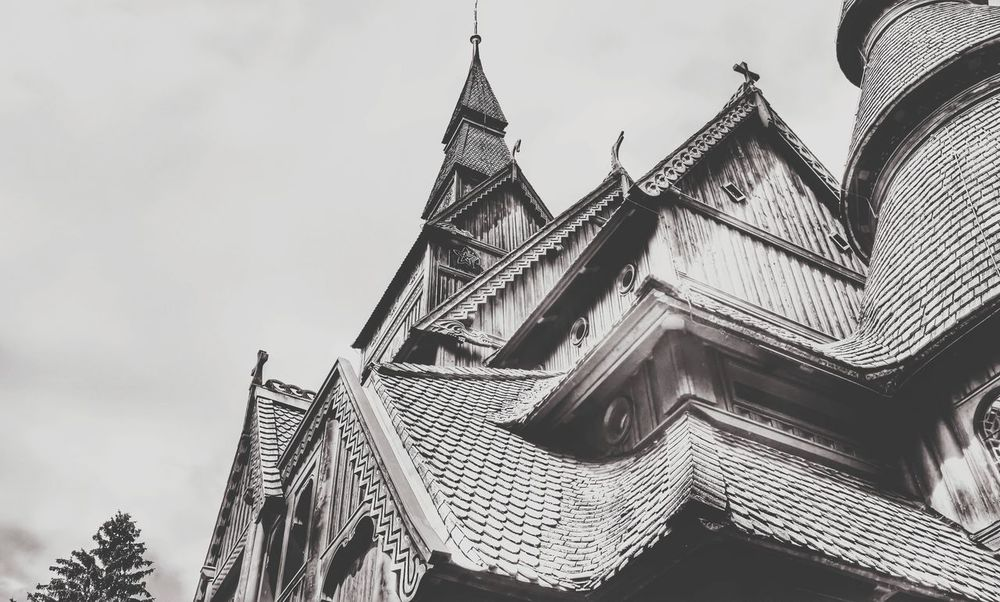 Low Angle View Tourism GustavAdolfStaveChurch Woodenchurch Hahnenklee Bwphotography BW_photography Bw_lovers