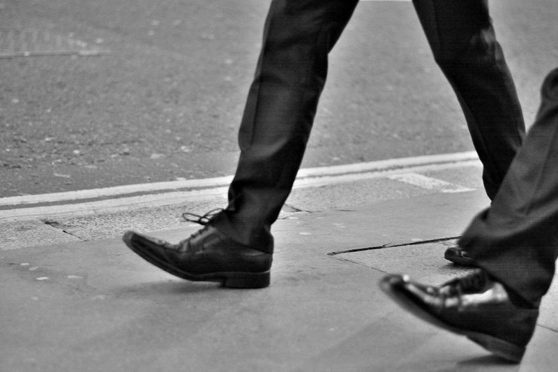 walking .. http://www.youtube.com/watch?v=MbGo9PP0n5I&list=RDMbGo9PP0n5I Black And White Monochrome Street Photography Walking In London Walking In The Street Take Photos From My Point Of View Capture The Moment One Person Low Section Human Leg Human Body Part Shoe Adults Only Lifestyles Eye4photography  EyeEm Gallery London City Life City Street City London Streets Street Real People Road