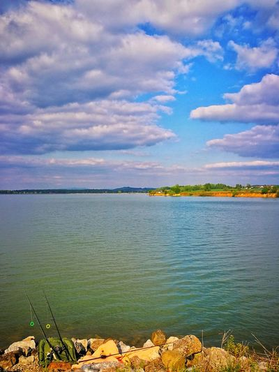 Cloud - Sky Nature Landscape Tranquility Sky Outdoors Water Fishing Croatia Lake BBQ No Fish Today Springtime Beauty In Nature Chilly Day